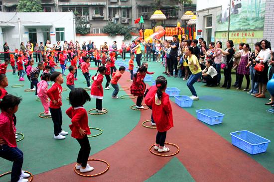 幼儿园早操评赛活动报道